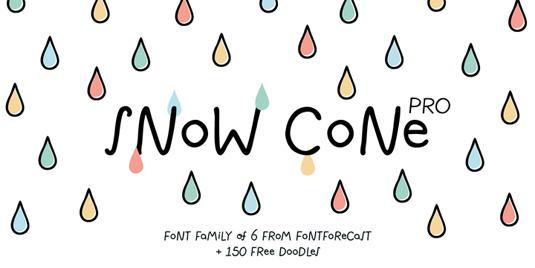 Snow Cone Pro font