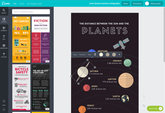 Best tools for creating infographics: Canva
