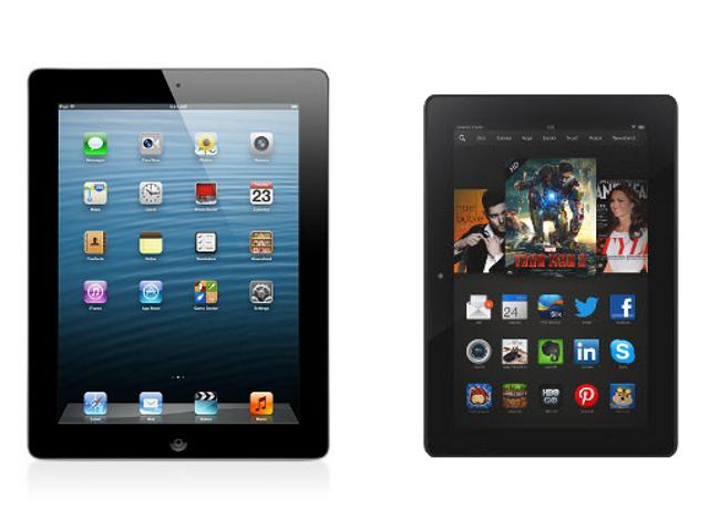 Amazon Kindle Fire Hdx 8 9 Vs Apple Ipad Spec Comparison