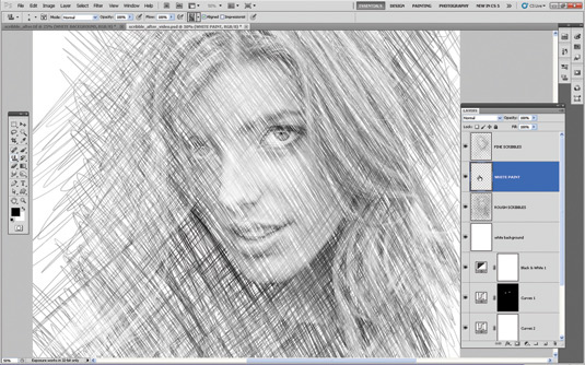 how to put a sketch effect on photos in photoshop