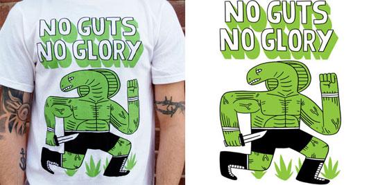 T-Shirt Design: No Guts No Glory