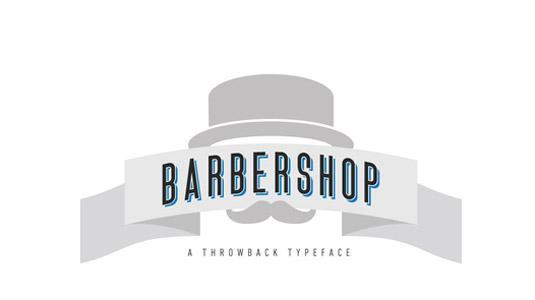 Free fonts: Barbershop