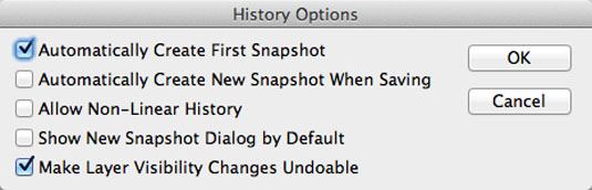 Photoshop secrets: Enable visibility history