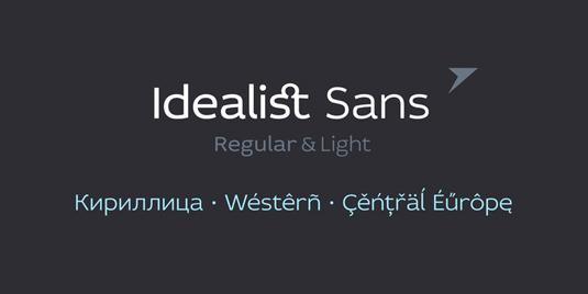 Free font: Idealist Sans