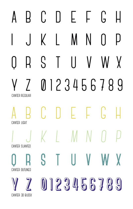 canter typography