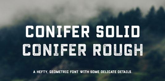 Conifer font