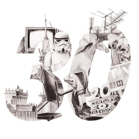 illustrated typography