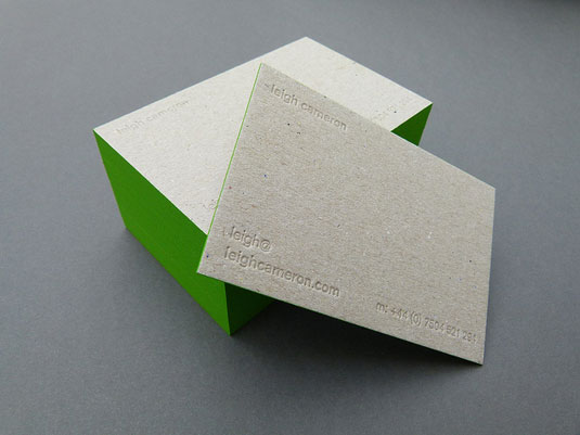 letterpress business cards: Leigh Cameron