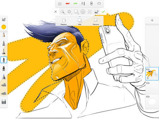 Drawing apps for ipad: SketchBook