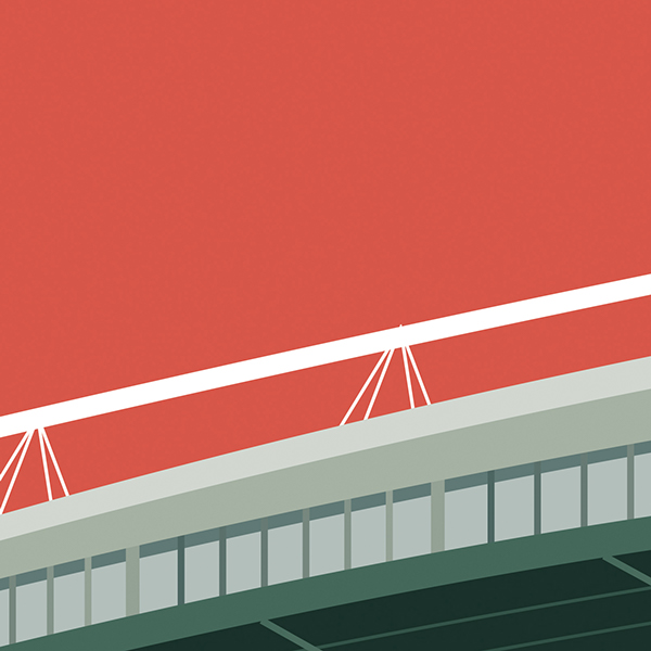 Premier League football stadium illustrations
