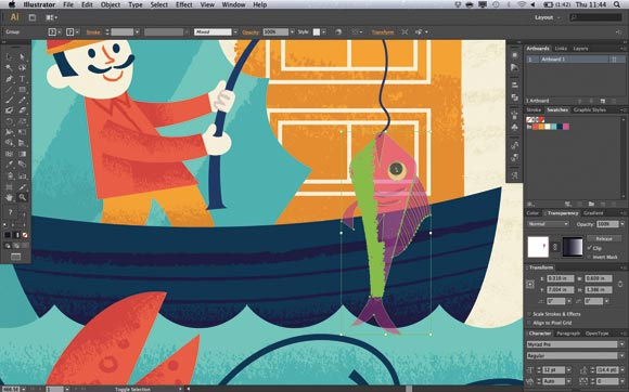 ADobe Illustrator CS6: The new Make/Release Mask button