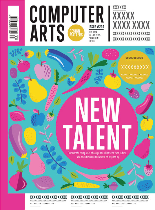 Cover design for CA's New Talent issue by Steph Morgan