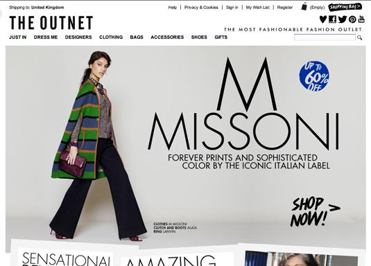 Win a web design award: The Outnet