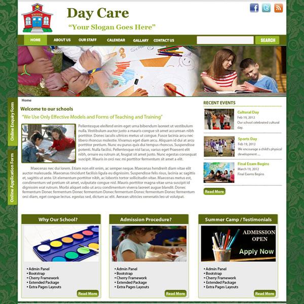 Drupal themes - Daycare