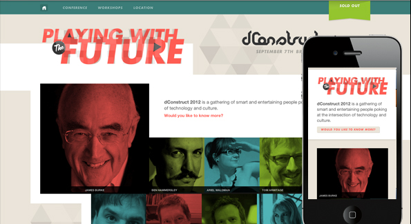 Best responsive websites: DConstruct