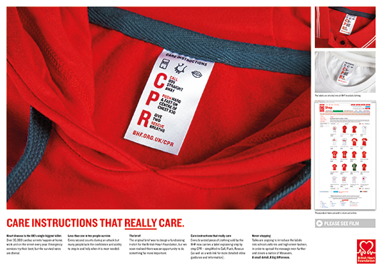 Brand Impact Awards - BHF: Care Instructions That Care, by The Partners