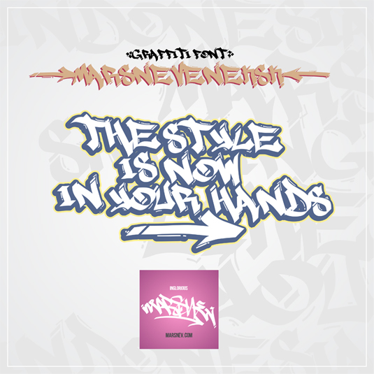 Free graffiti font: Marsneveneksk