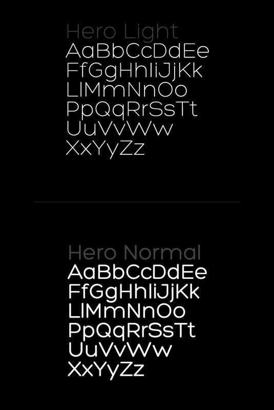 Free font: Hero