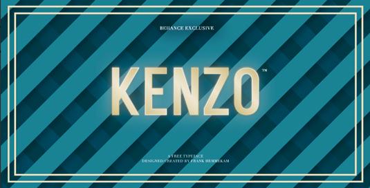 Free font: Kenzo