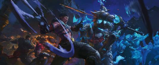 KD Stanton League of Legends Concept step 5
