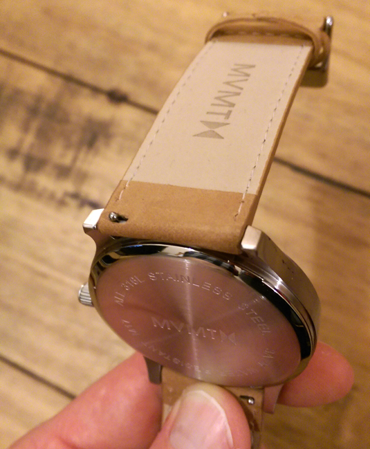 Lovely MVMT design touches, such as the logo on the strap