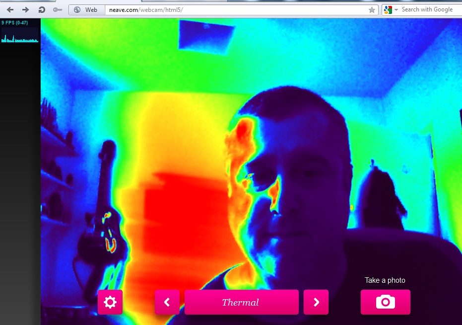 Paul Neave's HTML5 Webcam Toy made with getUserMedia
