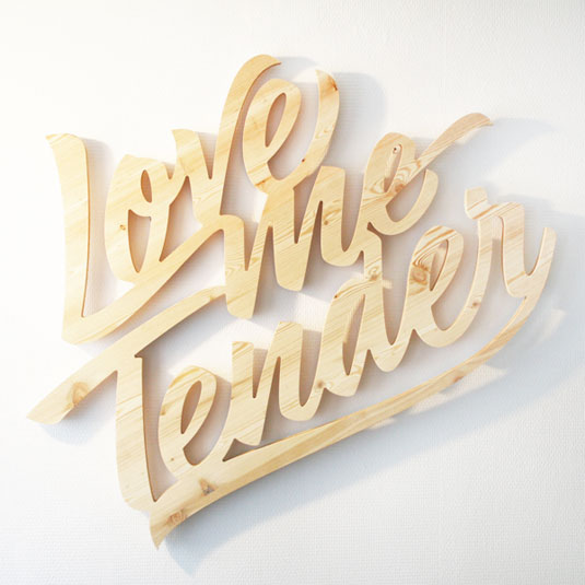 customised typography sculptures