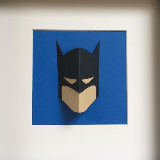 3D superhero wall art