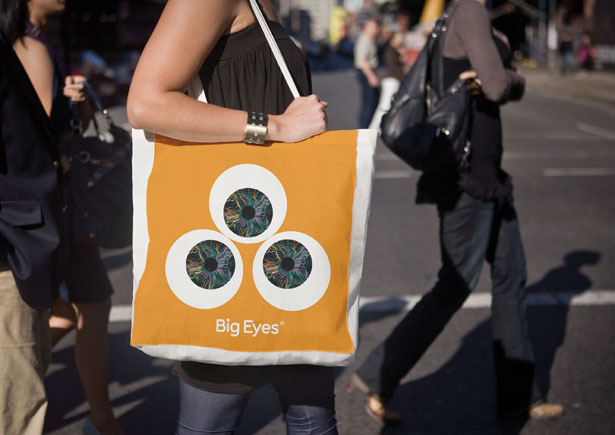 Branding agency SomeOne showed start-up advertising agency Big Eyes what its logo would like on a bag