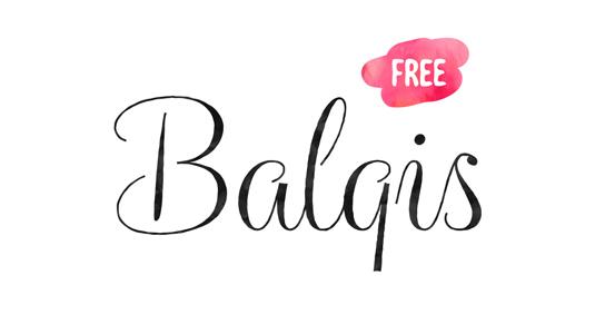 Free font: Balqis