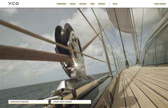 Website video background: YCO Yachts