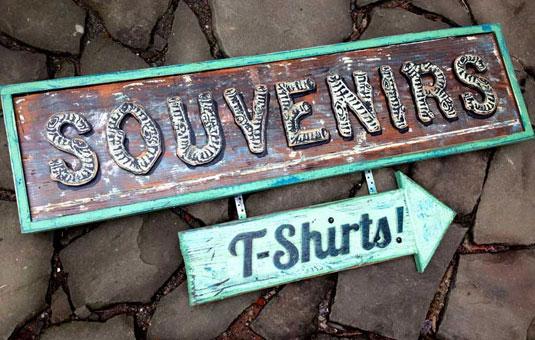 sign: souvenir