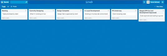 Staying on top of your projects is vital – here's a quick glimpse of how I structure my Trello board