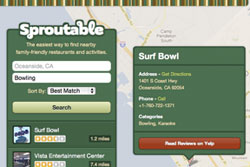 Sproutable makes finding nearby family-friendly restaurants and activities a breeze.
