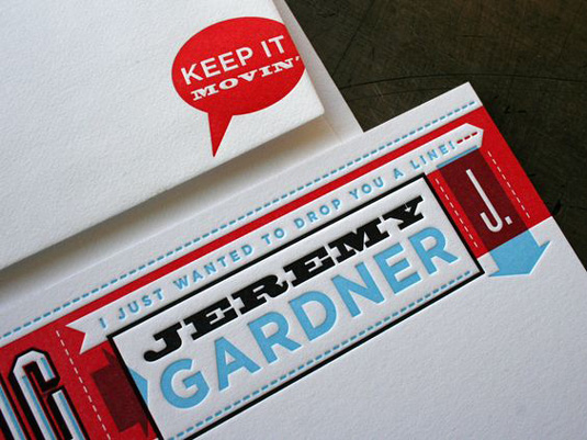 Letterhead designs: Jeremy Gardner