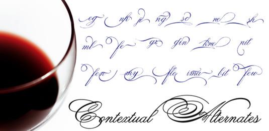 Script font: Spencerian Palmer Penmanship