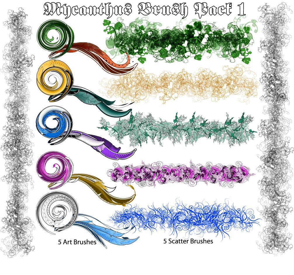Best Illustrator brushes: Mycanthus