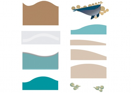 Superimpose shapes background to foreground