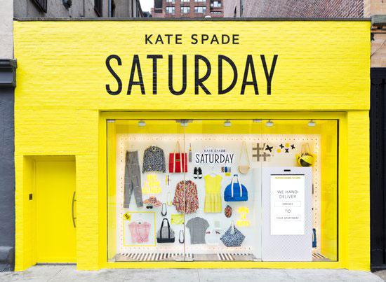 Window displays: Kate Spade