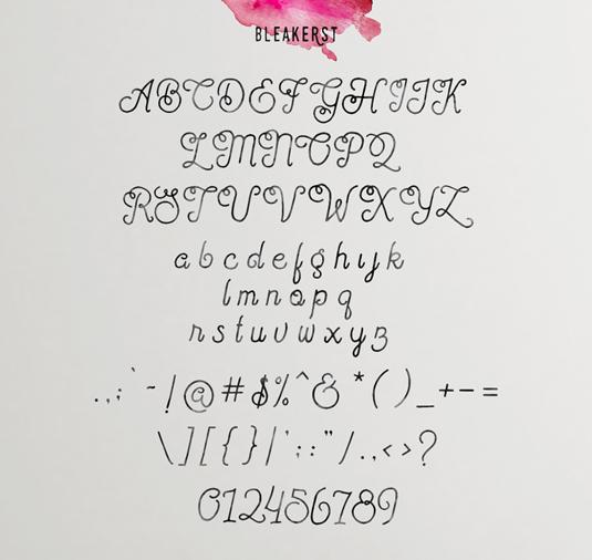 Free font: Bleakerst