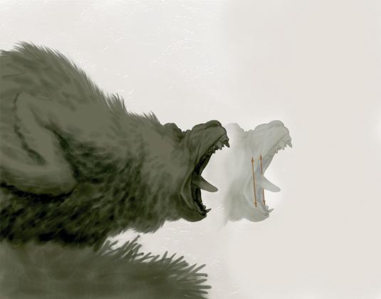 Bobby Chiu's roaring creature: step 1