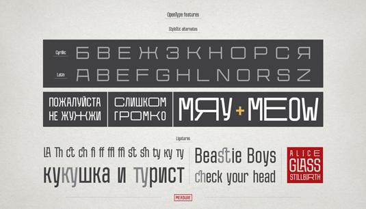 Free font: Measure