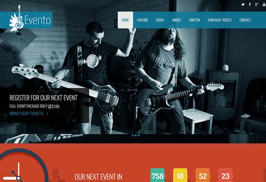 Free Bootstrap themes - Evento