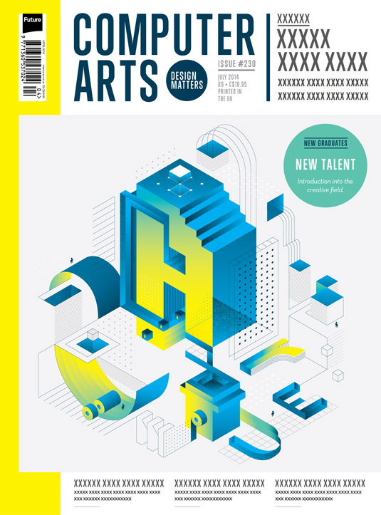 Cover design for CA's New Talent issue by Naila Medjidova