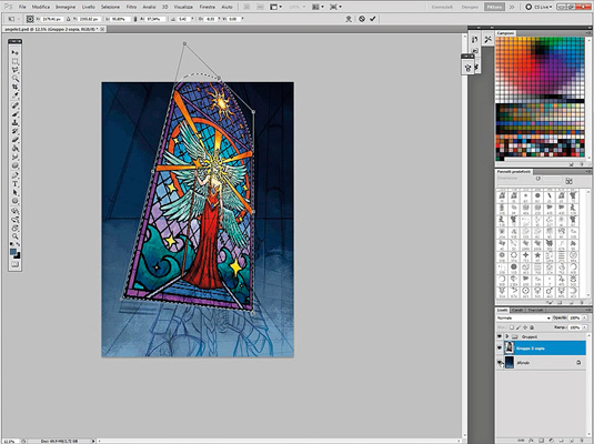 Paladin stained glass window
