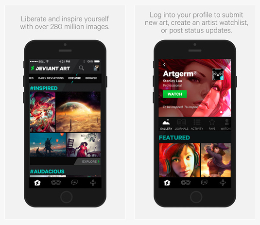 Deviantart Releases Free Mobile Art App Creative Bloq
