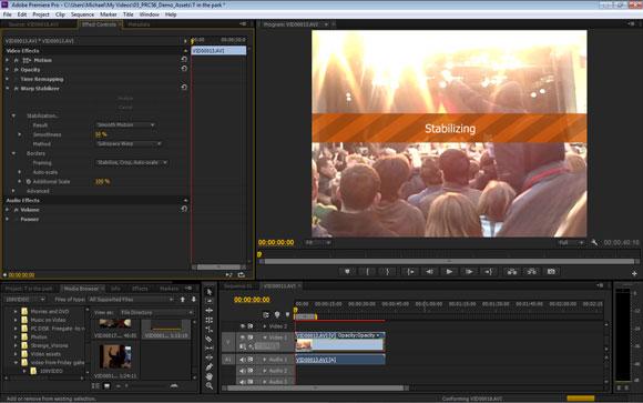 Adobe Premiere Pro CS6: Warp-Stabiliser