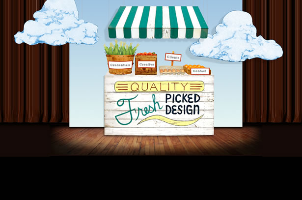 The homepage of Fresh Picked Design