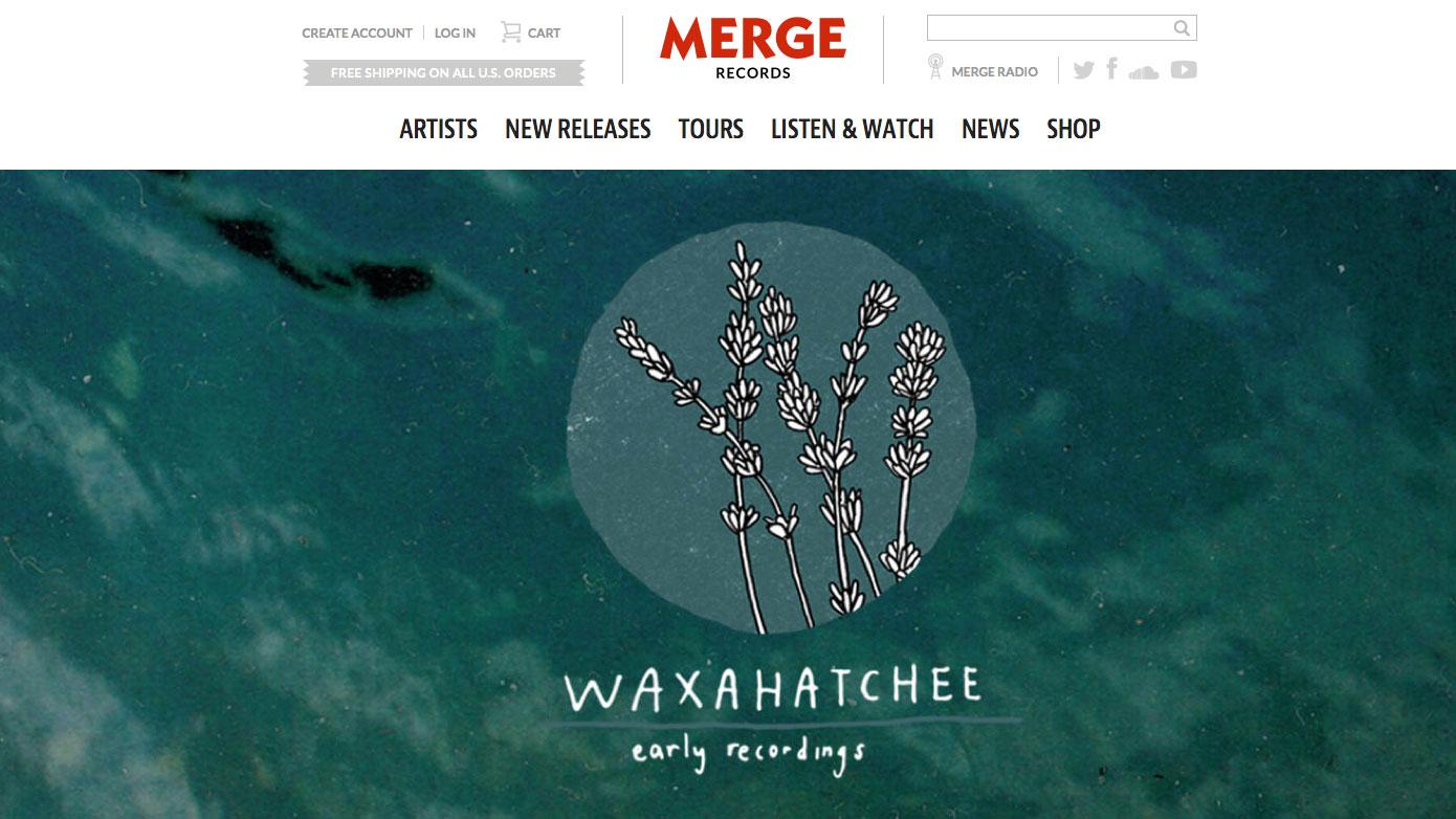 Web design inspiration: Merge Records