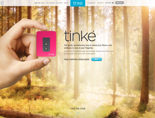 parallax scrolling tips: Tinke homepage